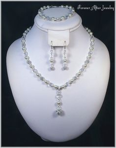 FABULOUS Pearls Rhinestones Crystals Bridal by ForeverAfterBridal, $63.00