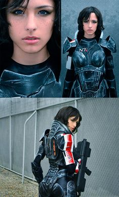 Geeky Girl Uses Foam to Build Amazing Mass Effect Female Shepard Costume - TechEBlog