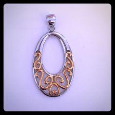 LOWEST!  Lia Sophia Slide NWOT Silver & Gold Lia Sophia Jewelry Necklaces