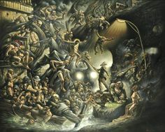 Images of Biblical Hell | The theological art of Peter Howson, painter of Scottish martyr St ...