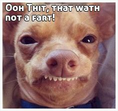 Ooh Thit, that wath not a fart!