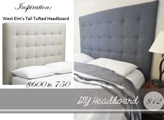 Draven Made: DIY West Elm Tall Tufted Headboard For Under $50