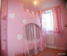 Princess Heart Castle Bed