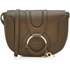 See by Chloé Leather Shoulder Bag ($270) ❤ liked on Polyvore featuring bags, brown, bohemian leather bag, boho shoulder bag, brown bag, woven leather bag and woven bag