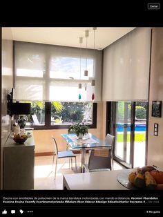 Cortina motorizada con mando a distancia de bandalux #enrollable #screen #cocina #bandalux #design #cortina