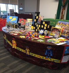 Check out all these decorating options for Hero Central! Boxes for buildings...Brick Wall Plastic Backdrop, Hero Code Mobiles, Hero Code Plastic Tape Roll, and Hero Kids from the Decorating and Publicity CD ROM