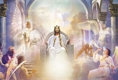 All Hail King Jesus by Danny Hahlbohm, Jesus on throne
