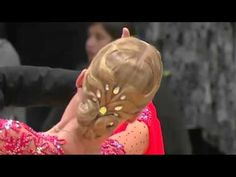 Ballroom Hairstyle - parting your hair in the middle