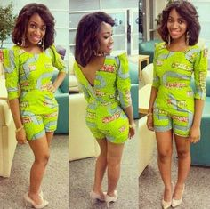 Gorgeous ankara short suit, too cute