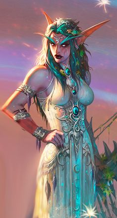 Tyrande Whisperwind - from the online game World Of Warcraft.