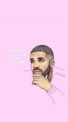 You use to make my hotline bling iPhone wallpaper / my