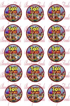 INSTANT DOWNLOAD.  Toy Story 1 Bottle Cap Images. by BowtiqueFinds, $0.99