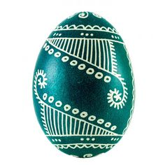 Hens  Easter egg hand decorated by polish folk artist from Opoczno.  Method of decorating: batik