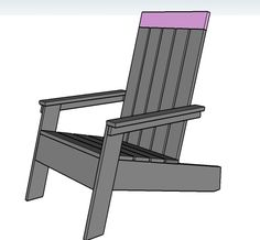 Adirondack chairs on Pinterest | Ana White, Furniture