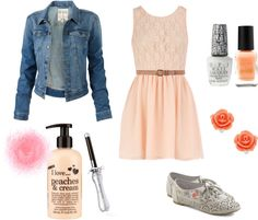 """""""peaches and cream- a picnic look(:"""" by karishmabajaj on Polyvore"""