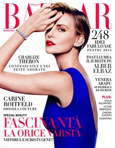 Charlize Theron for Harper's Bazaar Romania January/February 2015