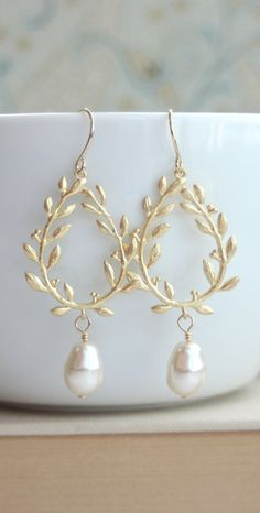 Gold laurel wreath drops.  Pretty much anything in Marolsha's store is phenomenal.