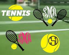 Tennis Decal Tennis Sticker Car Window Sticker Monogram Yeti