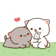 Cute Cartoon Images, Cute Couple Cartoon, Cute Love Cartoons, Cute Cartoon Wallpapers, Cute Images, Cute Anime Cat, Cute Cat Gif, Cute Love Pictures, Cute Love Gif