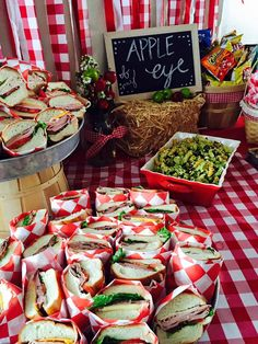 Apple Orchard Party Food Table