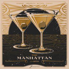 Whiskey Cocktail Screen Prints! via fringefocus