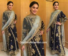 Madhuri Dixit in Rimple and Harpreet Narula for an event blouse designs
