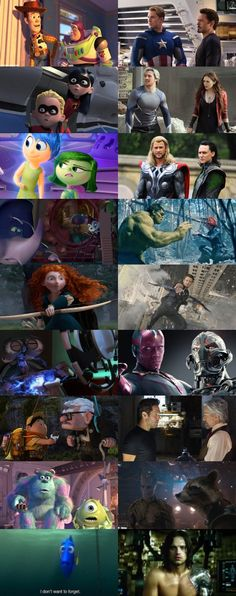 Pixar and Marvel Parallels The last one kills me