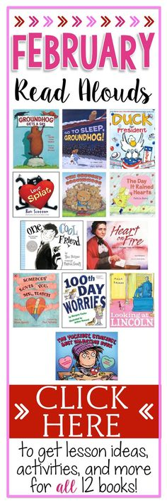 Click now to get lesson ideas, activities, and freebies for 12 different read alouds.