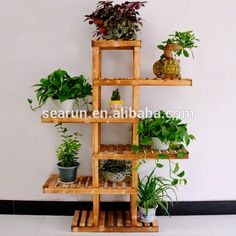 Source The new wood floor flower special multi-layer wooden flower pot holder real balcony plant shelf on m.alibaba.com