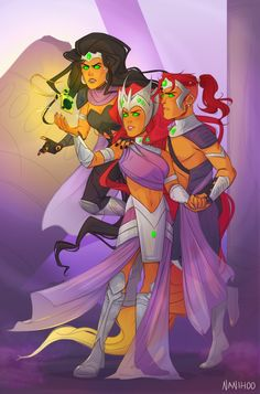 Blackfire, Starfire and Darkfire He called himself Wildfire until the he called himself Darkfire Robin Starfire, Teen Titans Starfire, Nightwing And Starfire, Teen Titans Blackfire, Teen Titans Go, Teen Titans Fanart, Marvel And Dc Superheroes, Marvel Vs, Marvel Dc Comics