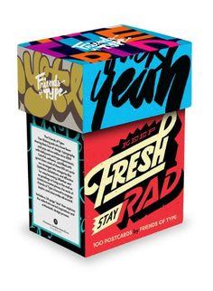 Keep Fresh Stay Rad Postcard Box: Friends of Type: 9781616893019: Amazon.com: Books