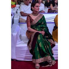 The beautiful reaches MMRDA grounds for  Silk Saree Blouse Designs, Saree Blouse Patterns, Indian Attire, Indian Outfits, Onam Saree, Reception Sarees, Saree Wedding, Desi Wedding, Saree Trends