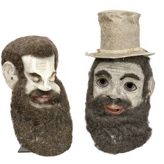 Paper Mache Trust Ritual Masks American, Late – early century offered by Just Folk on InCollect Odd Fellows, Lab Puppies, Skull And Bones, Outsider Art, Art Object, Paper Mache, Folklore, Puppets, Art Decor