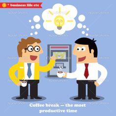 Coffee break collaboration — Vector Stock © macrovector #