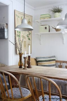 Most Design Ideas Cottage Style Dining Room Pictures, And Inspiration – Modern House Home Interior, Interior Decorating, Interior Design, Room Inspiration, Interior Inspiration, Muebles Home, Dining Room Lighting, Home Kitchens, Living Spaces