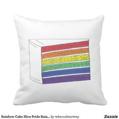 Rainbow Cake Slice Pride Rainbows FoodPillow