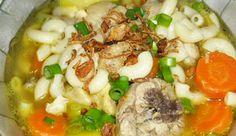 Sup Makaroni Jamur Lada Hitam