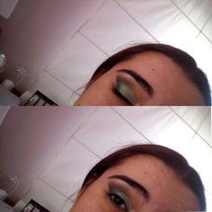 Difuminado de noche con forma de pico, color verde verde claro y verde oscuro 💚