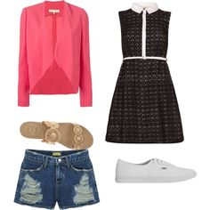 Untitled #277 by evanmonster on Polyvore featuring polyvore mode style Yumi Vanessa Bruno Jack Rogers Vans