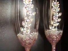 jewelled wedding glasses - YouTube