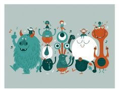 Love this! Reminds me Foster's Home for Imaginary Friends!