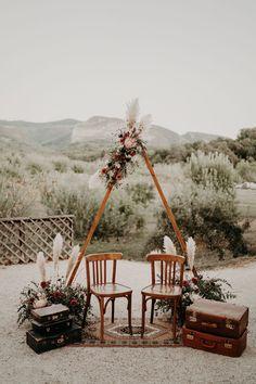 decoration mariage boho couvent des carmes | Majenia Design