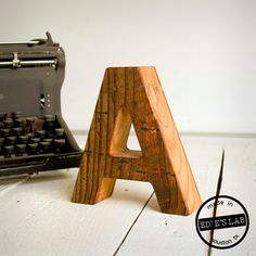 Reclaimed Wood Letter Decor For Your Desktop  Natural  by EdiesLab, $35.00