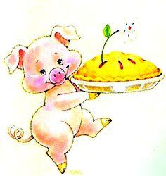 Olá amores,este é o post final dos porquinhos e pra encerrar com chave de ouro trouxe estas ilustrações que encontrei em um Picasa.Achei lin...