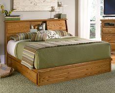 Bedroom Furniture | Simple Bookcase Headboard | American Made