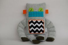 robot! Love the chevron - maybe for a bedskirt or curtain accent