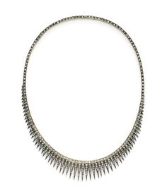 An Antique Diamond Necklace, Designed as Rose-Cut Diamond Fringe, circa 19th Century. Available at FD Gallery.  www.fd-inspired.com