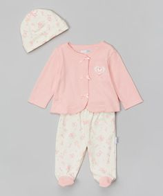 Love this Pink Baby's Friends Cardigan Set - Infant by Vitamins Baby on #zulily! #zulilyfinds