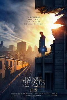 Starring Eddie Redmayne, Colin Farrell, Ezra Miller The adventures of writer Newt Scamander in New York's secret community of witches and wizards seventy years before Harry Potter reads his book in school. Eddie Redmayne, Fantastic Beasts Poster, Fantastic Beasts And Where, Hogwarts, Film 2016, Bon Film, The Beast, Crimes Of Grindelwald, Colin Farrell