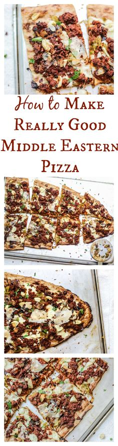 It's our favorite pizza ever. Click to find out how to make amazing Middle Eastern Style Pizza.